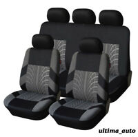 FULL SET GREY FABRIC SEAT COVERS FOR PEUGEOT 206 207 307 308 407 406 MPV 3008
