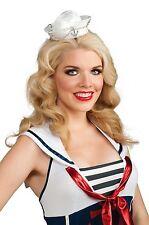 Mini White Sailor Hat Womens Captain Costume Adult Girls Headband Navy Head Band