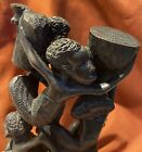 Magnificent Hand Carved  In Ebony 11 African Children Figures InTree Of Life 16?