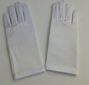 New Child White Satin Wrist Gloves: Dress Up, Communion, Costume, Dance, Theater