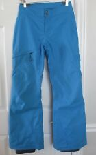 Columbia Insulated Ski Snow Pants Electric Blue Women XS Girl XL Near Perfect