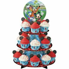 New listing Wilton Disney Mickey Mouse Roadster Cupcake Treat Stand 3 Tier; Birthday Party