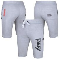Gym Men's Casual Sweat Fleece Shorts Jogging Bottoms Joggers Fitness in Grey