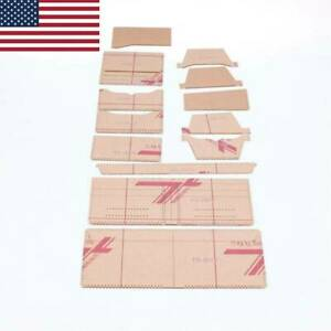 13 Pcs Clear Acrylic Wallet Patterns Stencil Template Set Leather Craft DIY Tool