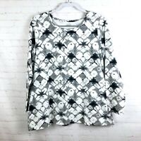 Pure J. Jill Women's Size L P Petite Tie Dye Long Sleeve Top Shirt Stretchy