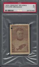 1924 Crescent Selkirks Canceled Hockey Card #1 Howard Brandow Graded PSA 1