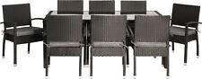 Premium 18-tlg BLACKCORD Sitzgruppe Polyrattan Gartenmöbel Stapelstuhl Tisch