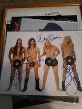 Steel Panther Michael Starr Signed Autographed and 3 other members 11x14 Photos
