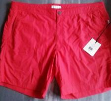 4861b115c5 Onia Men's Calder 40 Board Shorts Swim Trunks Swimsuit True Red Sharp