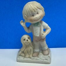 Duncan Royale fine porcelain figurine little boy puppy dog cocker spaniel bow Uk