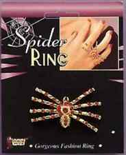 Spider Ring Red Gold Vampire Witch Fancy Dress Up Halloween Costume Accessory