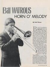 Bill Watrous Downbeat Clipping
