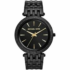 NEW MICHAEL KORS MK3337 LADIES BLACK DARCI WATCH - 2 YEARS WARRANTY