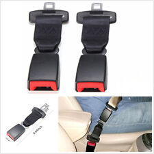 2 Pcs 25cm/9.84'' Car Seat Seatbelt Safety Belt Extender Extension 2.1cm Buckle