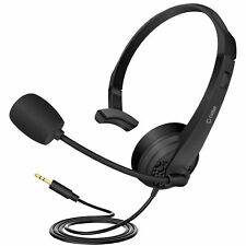 Cellet Durable 3.5mm Headset with Flexible Boom Mic for Pc Laptop Smartphone Car