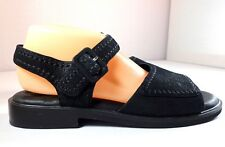 Rockport Black Leather Sandals Womens Size 10 M Shoes