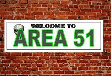 Area 51 Metal Sign Reproduction Town Name Wall Hanging Door Plaque