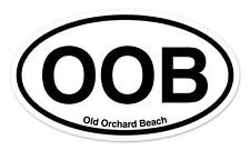 "OOB Old Orchard Beach Oval car window bumper sticker decal 5"" x 3"""