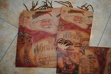 6 Geschenktüten mit Weihnachtsmotive Geschenktaschen 3 grössen Weihnachten 33 cm