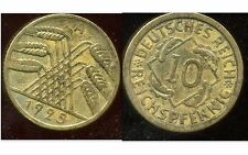ALLEMAGNE 10  reichspfennig  1925 A