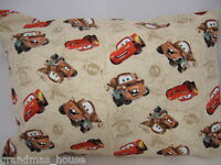 Child Toddler Cot Pillowcase Cars 2 Mater & Lightning 100% Cotton