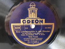 78rpm WILLI FORST - EINE LIEBESTRAGÖDIE IN DREI MINUTEN - Odeon Berlin 1931