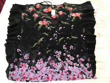 TED BAKER KAFTAN PEACH BLOSSOM SQUARE COVERUP BNWT SIZE SMALL RRP$209