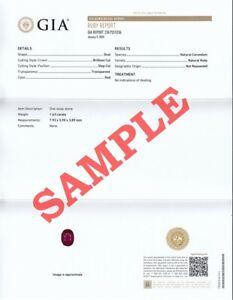 GIA | Gemological Institute of America Full Report (Service)