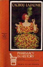 1983 Pharmacy in History, Smoker's Throat, Pharmacology, Materia Medica Medicine