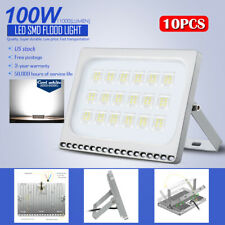 10 X100W Led Flood Light Outdoor Security Lighting Cool White Slim Lamp Us Stock