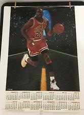 Vintage Original Rare 1993 Michael Jordan Calendar Poster By Cleo Chicago Bulls