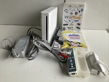 Nintendo Wii Console with Wii Play & Wario Wave Games Controller Nunchuk & HDMI