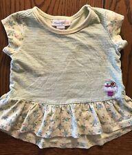 Naartjie Green Striped Top Girls Shirt Size 6-12 Months