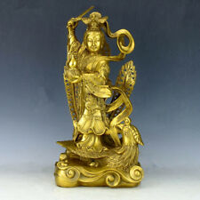 China's Seiko carving pure brass West Queen Mother statue