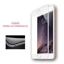 Protector Cristal Templado Completo 4D BLANCO Curvo para iPhone 6 6S 4,7 Premium