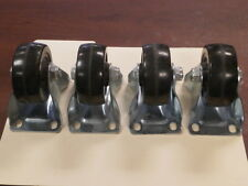Unused Black Xl4.8 Wheels w/Aluminum Base (non-swivel, Qty 4)