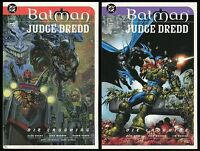 Batman Judge Dredd Die Laughing Trade Paperback TPB Set 1-2 Dark Knight Joker