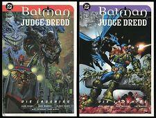 Batman Judge Dredd Die Laughing Trade Paperback TPB Set 1-2 Dark Knight Joker