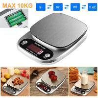 10kg/1g Digital Stainless Steel Kitchen Scale LCD Screen Food Coffee Bean Scale