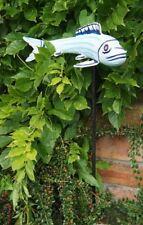 Light Blue Freshwater Serenity Koi Carp Fish Garden Decoration On 1m Tall Spike