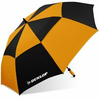 "Dunlop 60"" Double Canopy Folding 2-Person Golf Umbrella Windproof Vented WC"