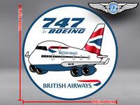 BRITISH AIRWAYS BA PUDGY BOEING B747 B 747 ROUND DECAL / STICKER