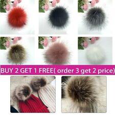 15cm Natural Imitation Fur Pompom For Women Hat Fur Pom Poms for Hats Caps