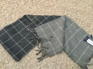 NWT Polo Ralph Lauren Scarf - Wool/Nylon - Gray Checkered (3380)