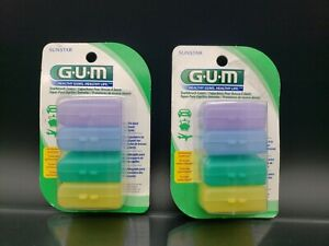 2 GUM Toothbrush Covers For Travel or Home 4 Covers in each