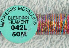 Kreinik Blending Filament 042L Optic Opal Metallic Thread 50M Cross Stitch