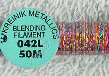 Kreinik Blending Filament 042L Optic Opal Metallic Thread 50M Cross Stitch