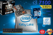 KIT SCHEDA MADRE H110M PROCESSORE INTEL I3 7100 KABY LAKE 8GB RAM DDR4 DVI/HDMI