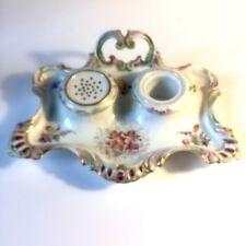 Rare Encrier 18ème Porcelaine De Paris Clignancourt Époque Louis XVI  /// XVIIIe