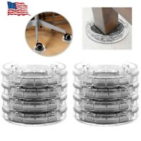 8pcs Round Furniture Leg Risers Non-slip Riser for Table Desk Bed Sofa Chairs US